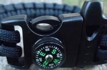 Sideutløst spenne m/kompass og fløyte
